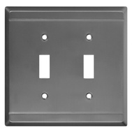 National Hardware S803-213 Stanley Franklin Double Switch Wall Plate Antique Pewter