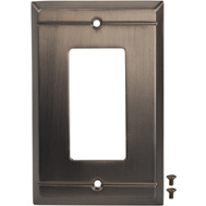 National Hardware S803-247 Stanley Franklin Single Rocker Or Gfi Wall Plate Antique Pewter