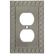 National Hardware S803-338 Stanley Pinnacle Single Duplex Wall Plate Satin Nickel