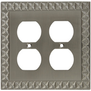 National Hardware S803-346 Stanley Pinnacle Double Duplex Wall Plate Satin Nickel