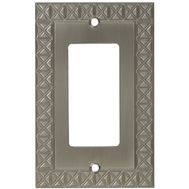 National Hardware S803-353 Stanley Pinnacle Single Rocker Or GFI Wall Plate Satin Nickel