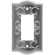 National Hardware S803-551 Stanley Victoria Single Rocker Or Gfi Wall Plate Satin Nickel