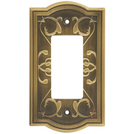 National Hardware S803-635 Stanley Victoria Single Rocker Or Gfi Wall Plate Antique Brass