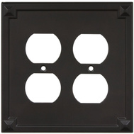 National Hardware S803-718 Stanley Prairie Double Duplex Wall Plate Oil Rubbed Bronze