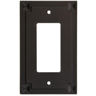 National Hardware S803-726 Stanley Prairie Single Rocker Or Gfi Wall Plate Oil Rubbed Bronze