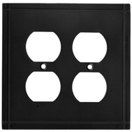National Hardware S804-161 Stanley Ranch Double Duplex Wall Plate Oil Rubbed Bronze