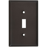 National Hardware S805-838 Stanley Basic Single Switch Wall Plate Oil Rubbed Bronze
