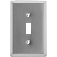 National Hardware S805-846 Stanley Basic Single Switch Wall Plate Satin Nickel Plated Finish