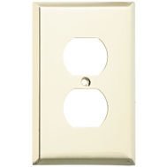 National Hardware S806-117 Stanley Basic Single Duplex Wall Plate Polished Brass