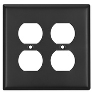 National Hardware S806-174 Stanley Basic Double Outlet Wall Plate Steel Oil Rubbed Bronze