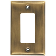 National Hardware S806-265 Stanley Basic Single Rocker Or Gfi Wall Plate Antique Brass
