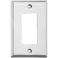 National Hardware S806-323 Stanley Basic Single Rocker Or GFI Wall Plate Bright Chrome