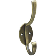 National Hardware S806-893 Stanley Modern Coat And Hat Hook 5-1/2 Inch Antique Brass