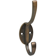 National Hardware S806-901 Stanley Modern Coat And Hat Hook 5-1/2 Inch Antique Bronze