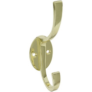 National Hardware S806-968 N806-822 Stanley Modern Coat And Hat Hook 5-1/2 Inch Bright Brass