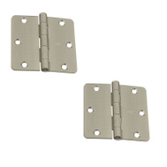 National Hardware S808-204 Stanley 3-1/2 Inch 1/4 Radius Door Hinges Satin Nickel 2 Pack