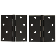 National Hardware S808-451 Stanley Door Hinges 4 Inch Square Corner Oil Rubbed Bronze 2 Pack