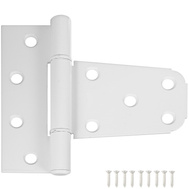 National Hardware S808-741 N342-568 N342-865 Stanley 3-1/2 By 3 Inch Gate T Hinge For Vinyl Gates White