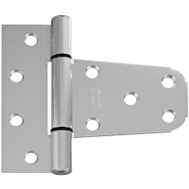 National Hardware S808-758 N342-576 N342-873 Stanley 3-1/2 By 3 Inch Gate T Hinge For Vinyl Gates Satin Nickel Aluminum Finish
