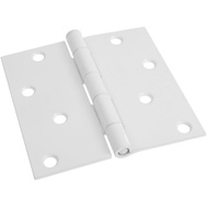 National Hardware S808-956 Stanley Door Hinges 4 Inch Square Corner White 2 Pack