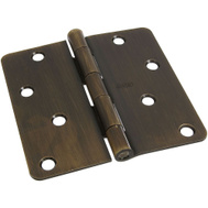 National Hardware S808-980 Stanley 4 Inch 1/4 Radius Door Hinges Antique Bronze 2 Pack