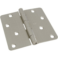 National Hardware S810-010 Stanley 4 Inch 1/4 Radius Door Hinges Satin Nickel 2 Pack