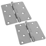 National Hardware S810-077 Stanley 4 Inch 1/4 Radius Door Hinges Polished Chrome 2 Pack