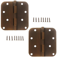 National Hardware S810-135 Stanley Door Hinges 4 Inch 5/8 Radius Bronze 2 Pack