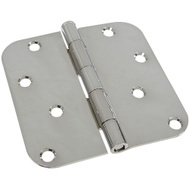 National Hardware S810-218 Stanley Door Hinges 4 Inch 5/8 Radius Polished Chrome 2 Pack