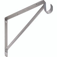 National Hardware S820-209 S822-093 Stanley Welded Closet Shelf And Rod Bracket Satin Nickel
