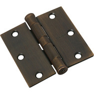 National Hardware S820-514 Stanley Commercial Door Hinges 3-1/2 Inch Square Corner Antique Bronze 2 Pack