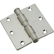 National Hardware S820-522 Stanley 3-1/2 Inch Full Mortise Architectural Door Hinges Chrome 2 Pack