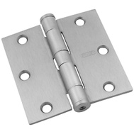 National Hardware S820-530 Stanley Commercial Door Hinges 3-1/2 Inch Square Corner Satin Chrome 2 Pack