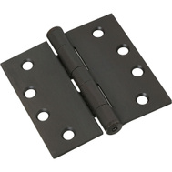 National Hardware S820-571 Stanley Commercial Door Hinges 4 Inch Square Corner Oil Rubbed Bronze 3 Pack