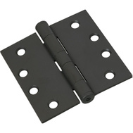 National Hardware S820-589 Stanley Commercial Door Hinges 4 Inch Square Corner Oil Rubbed Bronze Lacquered 3 Pack