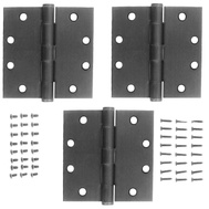 National Hardware S820-688 Stanley Commercial Door Hinges 4-1/2 Inch Square Corner Antique Nickel 3 Pack