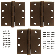 National Hardware S820-704 Stanley Commercial Door Hinges 4-1/2 Inch Square Corner Antique Bronze 3 Pack