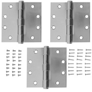 National Hardware S820-712 Stanley 4-1/2 Inch Architectural Square Door Hinges Chrome 3 Pack