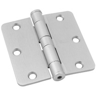National Hardware S820-761 Stanley Commercial Door Hinges 3-1/2 Inch 1/4 Radius Satin Nickel 2 Pack