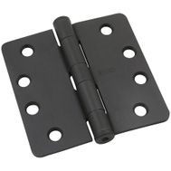 National Hardware S820-779 Stanley 4 Inch 1/4 Radius Template Door Hinges Oil Rubbed Bronze Lacquered 3 Pack