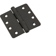 National Hardware S820-787 Stanley Commercial Door Hinges 4 Inch 1/4 Radius Oil Rubbed Bronze 3 Pack