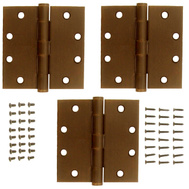 National Hardware S820-845 Stanley 4 Inch Ball Bearing Door Hinges Non Removable Pin Antique Bronze 3 Pack