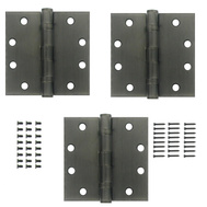 National Hardware S820-886 Stanley Ball Bearing Commercial Door Hinges 4-1/2 Inch Antique Nickel 3 Pack