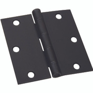 National Hardware S821-132 Stanley Door Hinges 3-1/2 Inch Square Corner Oil Rubbed Bronze 2 Pack Box