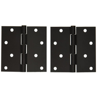 National Hardware S821-249 S821-413 S808-451 Stanley Door Hinges 4 Inch Square Corner Oil Rubbed Bronze 2 Pack Box