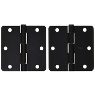 National Hardware S821-322 S083-519 Stanley Door Hinges 3-1/2 Inch 1/4 Radius Oil Rubbed Bronze 2 Pack