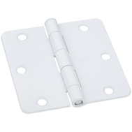 National Hardware S821-405 Stanley Door Hinges 3-1/2 Inch 1/4 Radius Prime Coat White 2 Pack