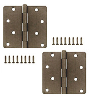 National Hardware S821-447 Stanley 4 Inch 1/4 Radius Door Hinges Antique Pewter 2 Pack