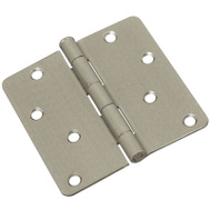 National Hardware S821-454 Stanley 4 Inch 1/4 Radius Door Hinges Satin Nickel 2 Pack Box