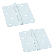 National Hardware S821-488 Stanley 4 Inch 1/4 Radius Door Hinges Prime Coat White 2 Pack Box